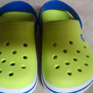 Crocs Yellow and Blue, size 13